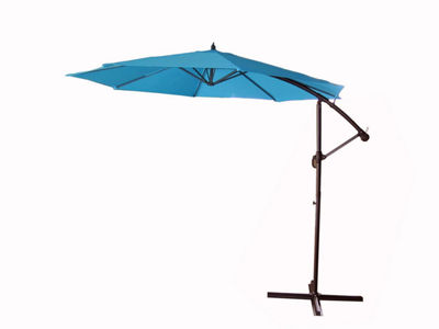 10' Outdoor Patio Off-Set Crank and Tilt Umbrella - Turquoise Blue