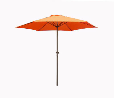 7.5' Outdoor Patio Market Umbrella with Hand Crank - Orange