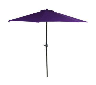 7.5' Outdoor Patio Market Umbrella with Hand Crank - Purple