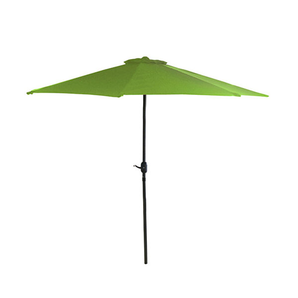 7.5' Outdoor Patio Market Umbrella with Hand Crank - Lime Green