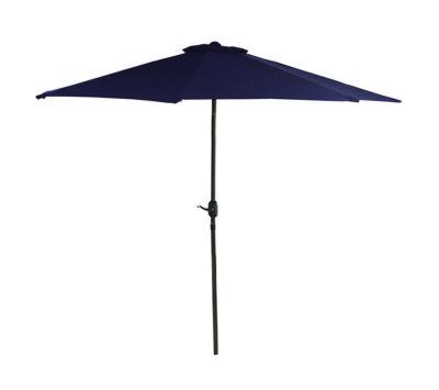 7.5' Outdoor Patio Market Umbrella with Hand Crank - Navy Blue