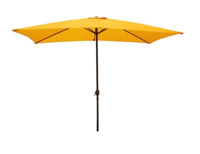 8.5' Outdoor Patio Market Umbrella with Hand Crank - Yellow