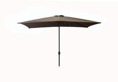 8.5' Outdoor Patio Market Umbrella with Hand Crank - Dark Beige