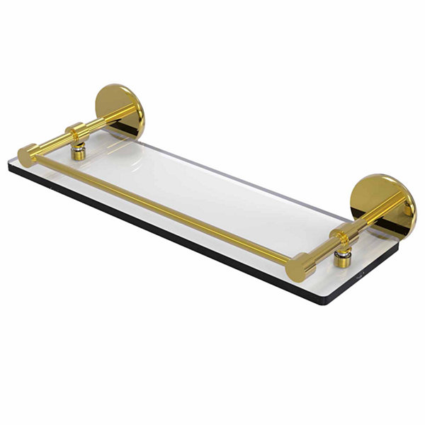 Allied Brass 16 IN Tempered Glass Shelf With Gallery Rail