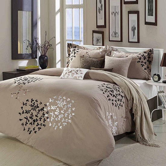Chic Home Cheila 8-pc. Midweight Embroidered Comforter Set
