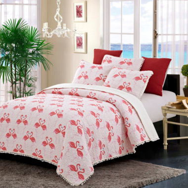 Hedaya Home Flamingo Dance 3-pc. Quilt Set