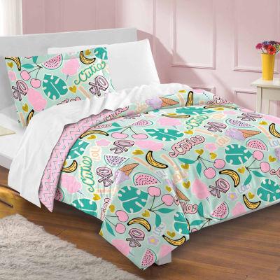 Dream Factory Pin It Comforter And Sham Set