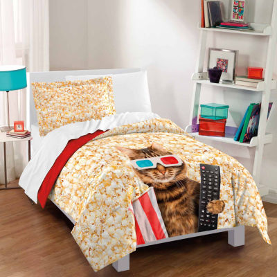 Dream Factory Movie Cat Comforter And Sham Set