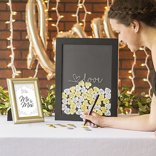 Cathy's Concepts Love Heart Drop Guest Book