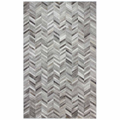 Langdon Leather Hand Stitched Area Rug