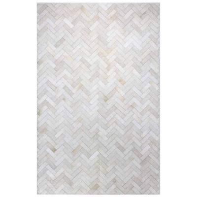 Quentin Leather Hand Stitched Area Rug