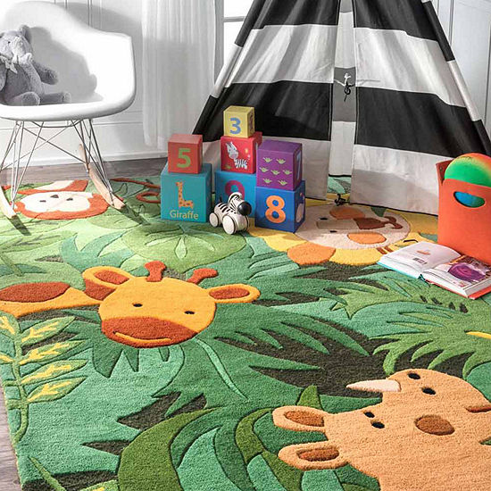 nuLoom Hand Tufted King of the Jungle Rug