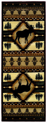 United Weavers Contours John Q Collection Moose Wilderness Rectangular Rug