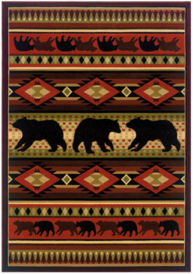 United Weavers Contours John Q Collection Native Bear Rectangular Rug