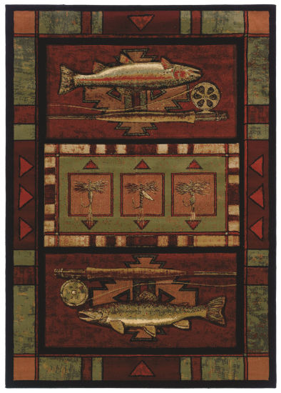 United Weavers Contours John Q Collection Rainbow Trout Rectangular Rug