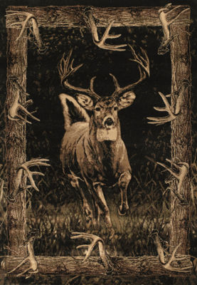 United Weavers Contours John Q Collection RunningDeer Rectangular Rug