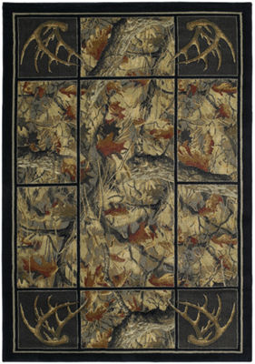 United Weavers Hautman Collection Antler's Camo Rectangular Rug