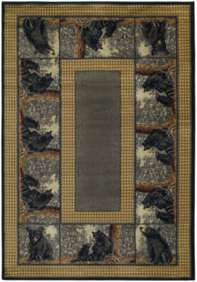 United Weavers Hautman Collection Bear Family Rectangular Rug