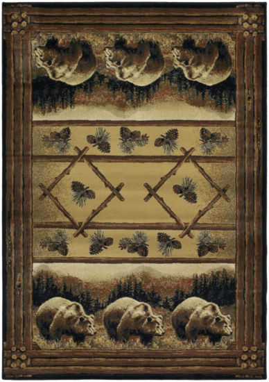 United Weavers Hautman Collection Grizzly Pines Rectangular Rug