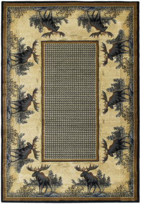 United Weavers Hautman Collection Northwood MooseRectangular Rug