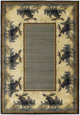 United Weavers Hautman Collection Northwood MooseRectangular Rug