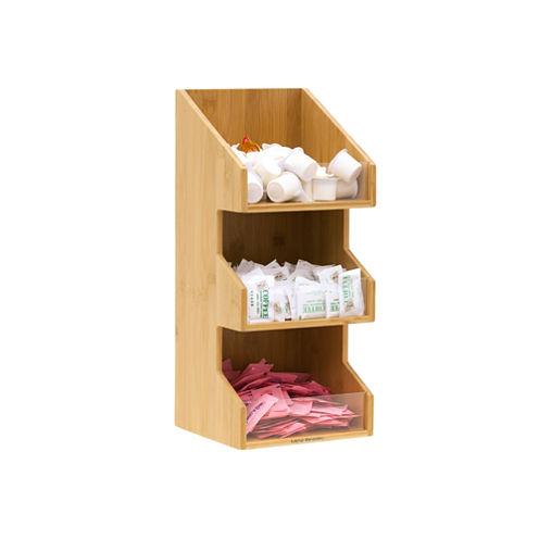 Mind Reader 'Goldie' 3 Tier Condiment Organizer, Bamboo Wood