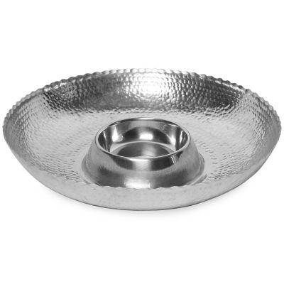 "St. Croix Trading Kindwer 16"" Hammered Aluminum Chip & Dip Bowl"