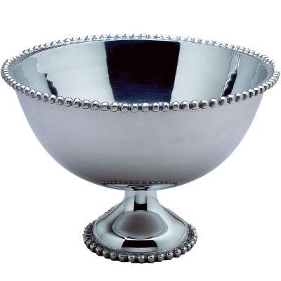 "St. Croix Trading Kindwer Huge 16"" Beaded Aluminum Punch Bowl"