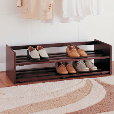 Neu Home Mahogany Stackable Shoe Rack, Set of 2