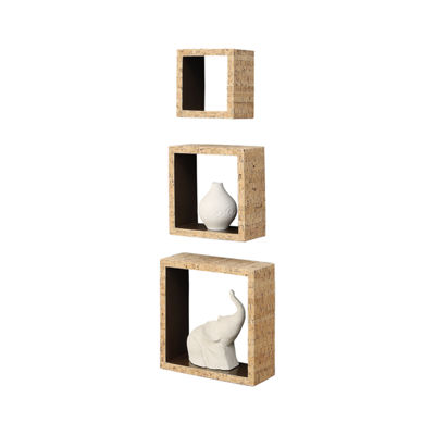 Neu Home Cork Inspired Wall Cube Shelving, Set of 3