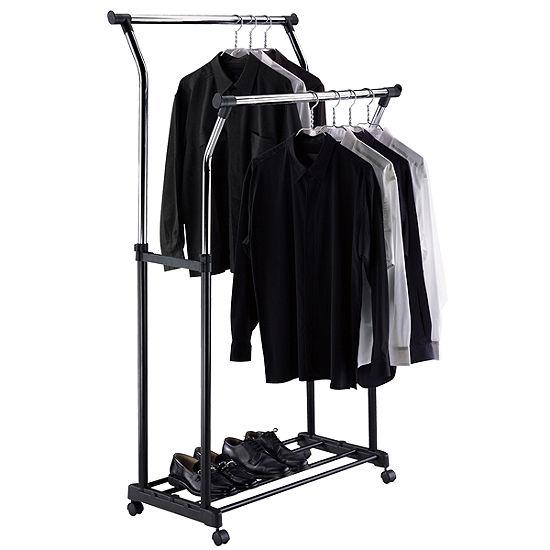 Neu Home Double Adjustable Garment Rack