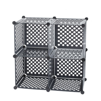 Neu Home Black Storage Cubes, Set of 4