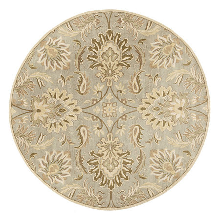 Decor 140 Vitrolles Hand Tufted Round Indoor Rugs, One Size , Gray