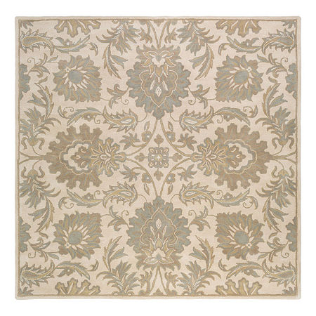 Decor 140 Vitrolles Hand Tufted Square Indoor Rugs, One Size , Beige