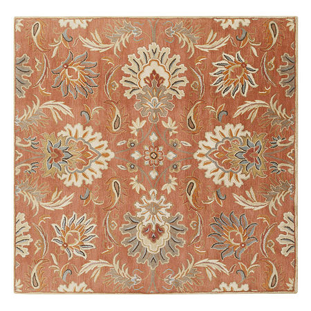 Decor 140 Vitrolles Hand Tufted Square Indoor Rugs, One Size , Orange