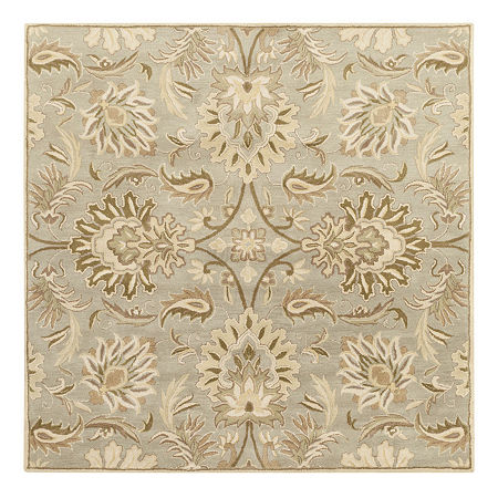 Decor 140 Vitrolles Hand Tufted Square Indoor Rugs, One Size , Gray