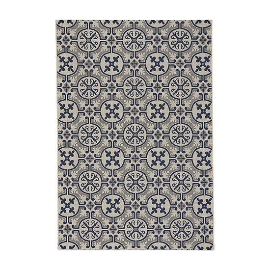 Capel Inc. Elsinore Tile Rectangular Indoor/Outdoor Rugs