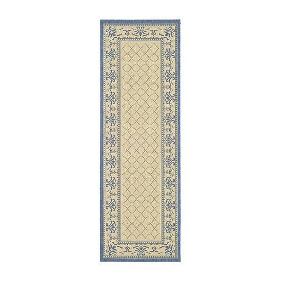 Safavieh Courtyard Collection Alden Oriental Indoor/Outdoor Runner Rug