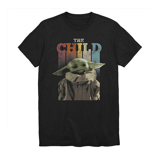 Big and Tall Mens Crew Neck Short Sleeve Star Wars The Child Graphic T-Shirt