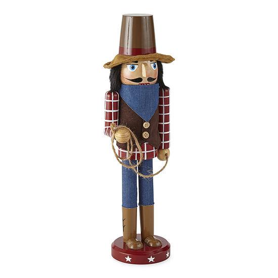 "North Pole Trading Co. 14"" Cowboy Christmas Nutcracker"
