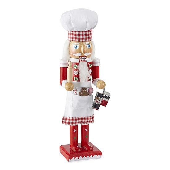 "North Pole Trading Co. 14"" Baker Christmas Nutcracker"