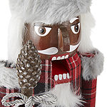 "North Pole Trading Co. 14"" Plaid Christmas Nutcracker"