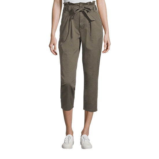 a.n.a Mid Rise Belted Tall Cropped Pants