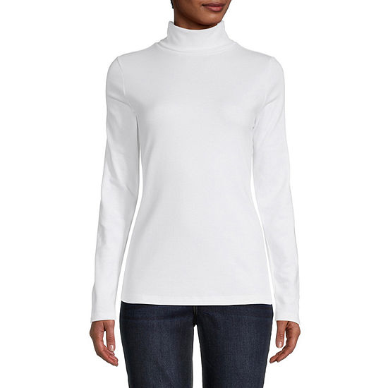 St. John's Bay-Tall Womens Long Sleeve Turtleneck