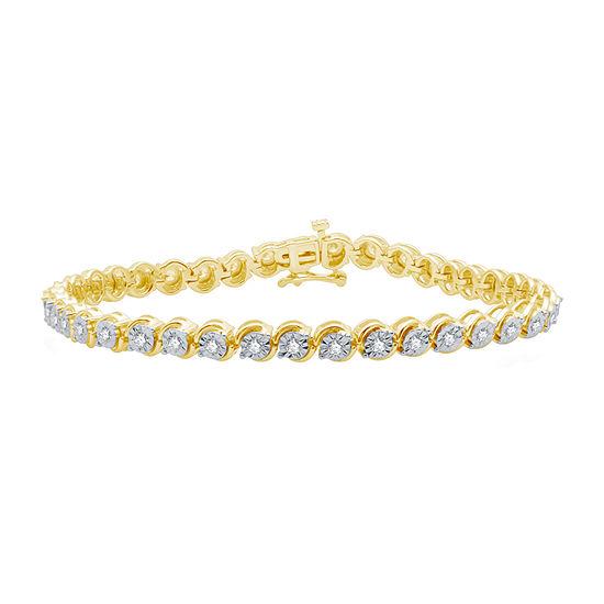 14K Gold Over Silver 7.5 Inch Link Bracelet