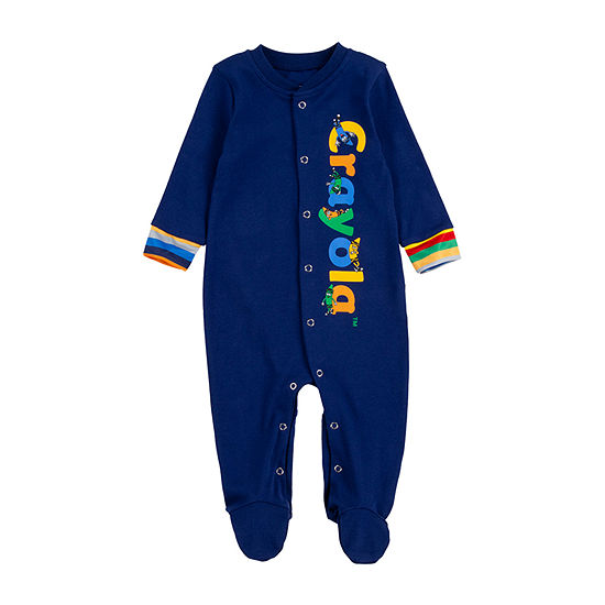 Crayola Baby Boys Knit Long Sleeve One Piece Pajama
