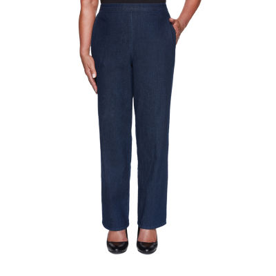 Alfred Dunner Hunter Mountain Womens Straight Pull-On Pants
