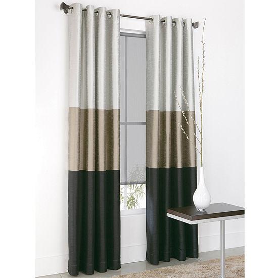Studio Trio Energy Saving Light-Filtering Grommet-Top Single Curtain Panel