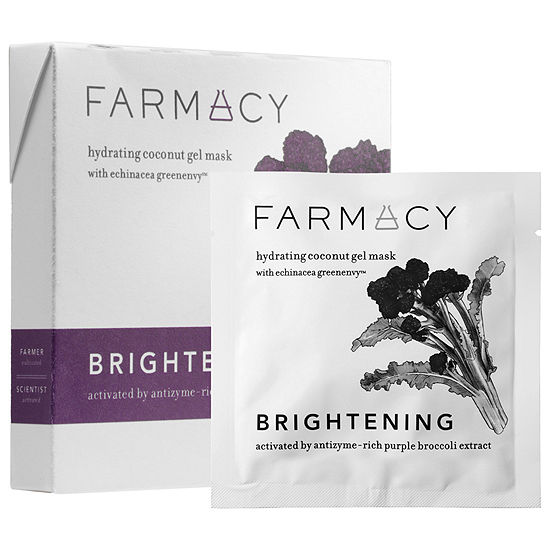Farmacy Hydrating Coconut Gel Mask - Brightening Purple Broccoli
