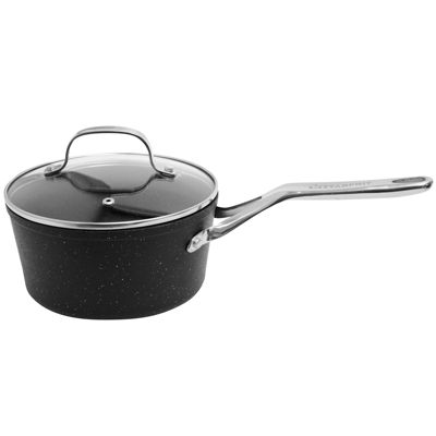 The Rock by Starfrit 3-qt. Nonstick Saucepan with Lid